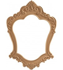 Masifart Melinda Büyük Gala Ayna Cilasız Ham Ahşap 8614