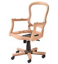 Masifart Primo Klasik Dönerli Sandalye Cilasız Ham Ahşap 4780