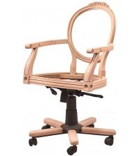 Masifart Candidus Oymalı Dönerli Sandalye Cilasız Ahşap 4784
