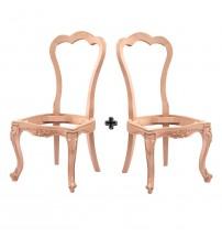 Masifart Dexter Venedik Giydirme Sandalye 2 li Cilasız Ham Ahşap 4558
