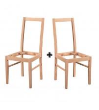 Masifart Candela Giydirme Sandalye 2 li Modern Cilasız Ahşap 4618