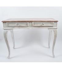 Masifart 100 cm Seme Beyaz Patine Eskitme Dresuar Çekmeceli Makyaj Masası