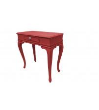 Masifart Flare 80 cm Kırmızı Eskitme Çekmeceli Dresuar Makyaj Masası