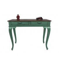 Masifart Ceviz Eskitme Tablalı Dresuar Yeşil 120 cm eskitme patina boya