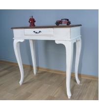 Masifart Ceviz Eskitme Tablalı Dresuar Beyaz 80 cm eskitme patina boya
