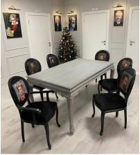 Masifart Taxon Oymalı Yemek Masası Sandalye Takımı