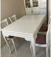 Masifart Prasino Yemek Masası ve Sandalye Takımı