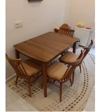 Masifart Retro Yemek Masası ve Sandalye Takımı