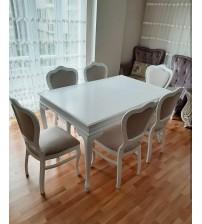 Masifart Blok Yemek Masası ve 6 Sandalye Takımı