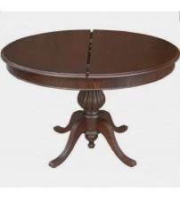 Masifart Baba Ayak Masa Yuvarlak Yemek Masası Ceviz 120 cm