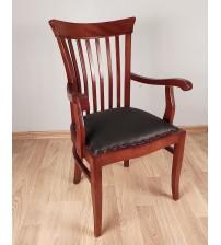 Masifart Aden 7115 Şerif Kollu Sandalye Klasik Ceviz İpekmat