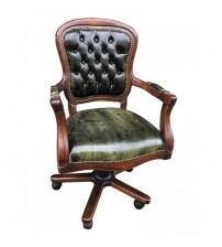 Masifart Movia Ahşap Klasik Ofis Çalışma Koltuğu Ceviz Makam Sandalyesi