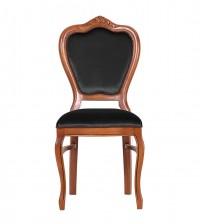 Masifart Putridus Klasik Oymalı Sandalye Ceviz Füme Kadife