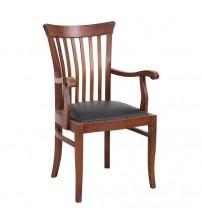 Masifart Aden 7115 Şerif Kollu Sandalye Ceviz
