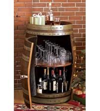 Masifart Şarap Fıçısı Kapaklı Dikey Şaraplık