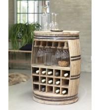 Masifart Şarap Fıçısı Ara Bölmeli Çoklu Şaraplık
