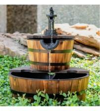 Masifart Su Tulumbalı Bahçe Çeşmesi Fıçı Çeşme