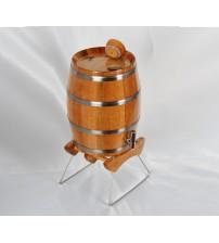 Masifart Kızıl Meşe Dik Şarap Bira Fıçısı 4 Litre
