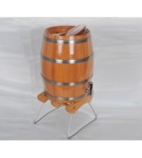 Masifart Naturel Dik Gürgen Şarap Fıçısı 4 Litre