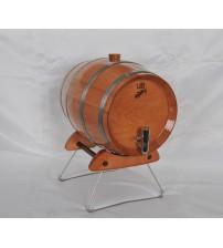 Masifart Kızıl Gürgen Yatay Şarap Fıçısı 4 Litre