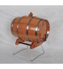 Masifart İçi Kaplı Yatay Gürgen Standlı Şarap Fıçısı 4 lt.