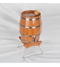 Masifart İçi Kaplı Dik Gürgen Standlı Şarap Fıçısı 4 lt.